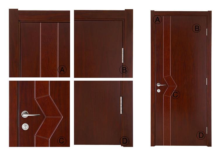 Calidad Diseño Llano Puertas Interiores De Madera Puerta Interior ...