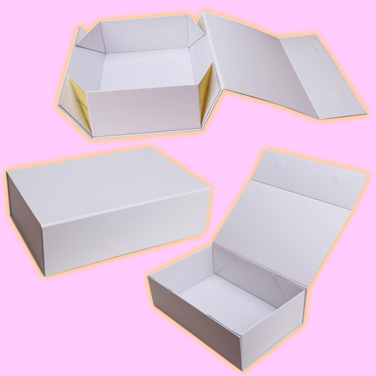 Custom Hot Stamping LOGO With Lid and Satin Insert Black Shoulder Paper Boxes Gift Box