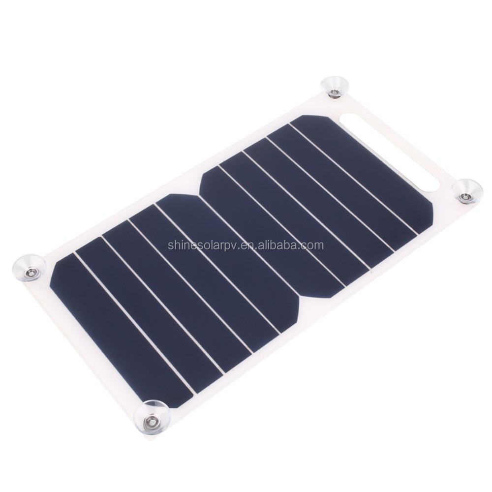 Mobile Solar Power Portable Sunpower 10w 5v Solar Panel For Phone Charger USB Port