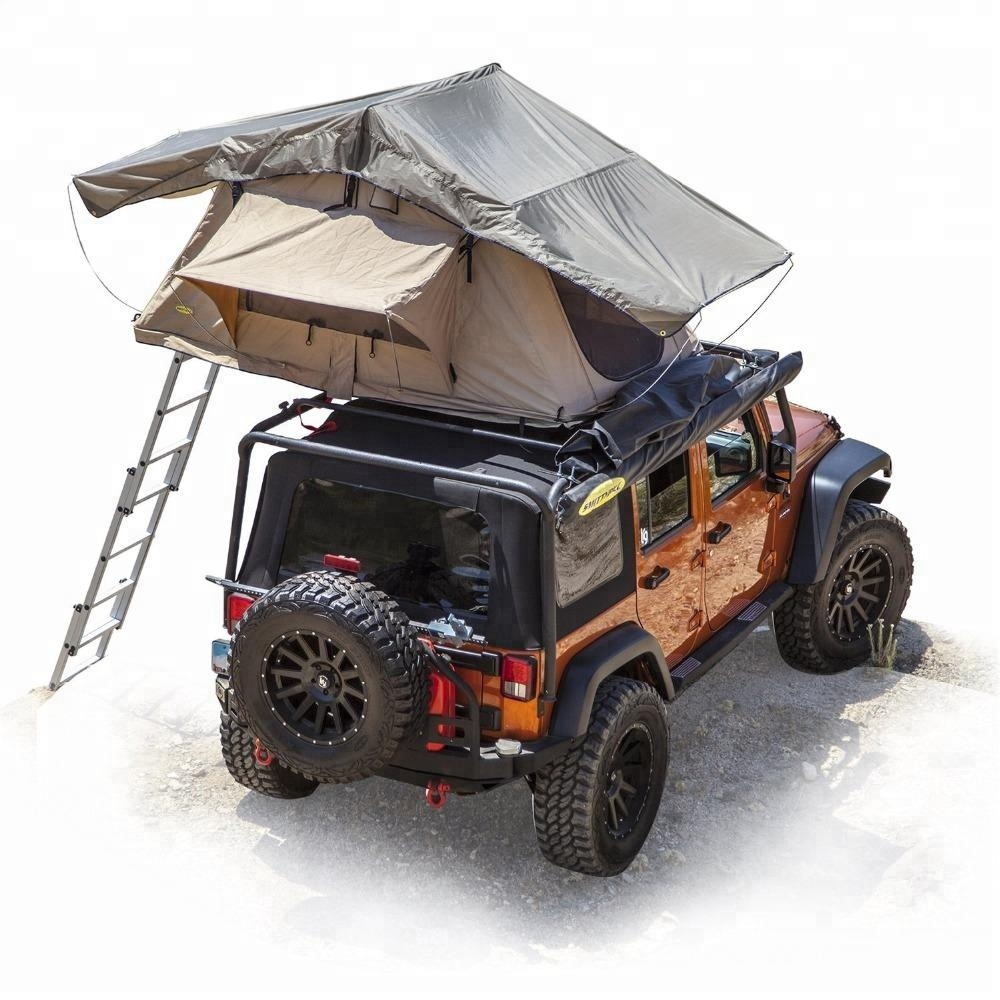 Cheapest outdoor family 4 person wildland adventure 4x4 offroad camping foldable car roof top tent