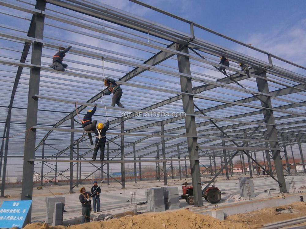 steel factory warehouse building with overhead crane