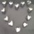 high quality shape strass heart hot fix flatback rhinestone