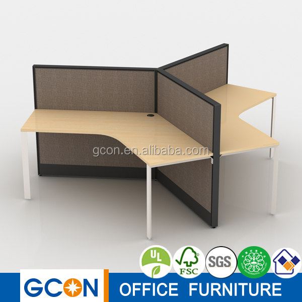 High quality Small office cubicle/ 3 person workstation/office workstation design