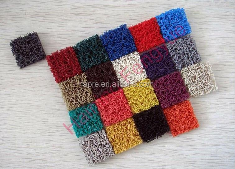 Green Plastic Carpet Pvc Solid Plastic Loop Coil Mats Rubber Mat ...