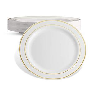 Wedding Christmas occasions gold charger plate plastic