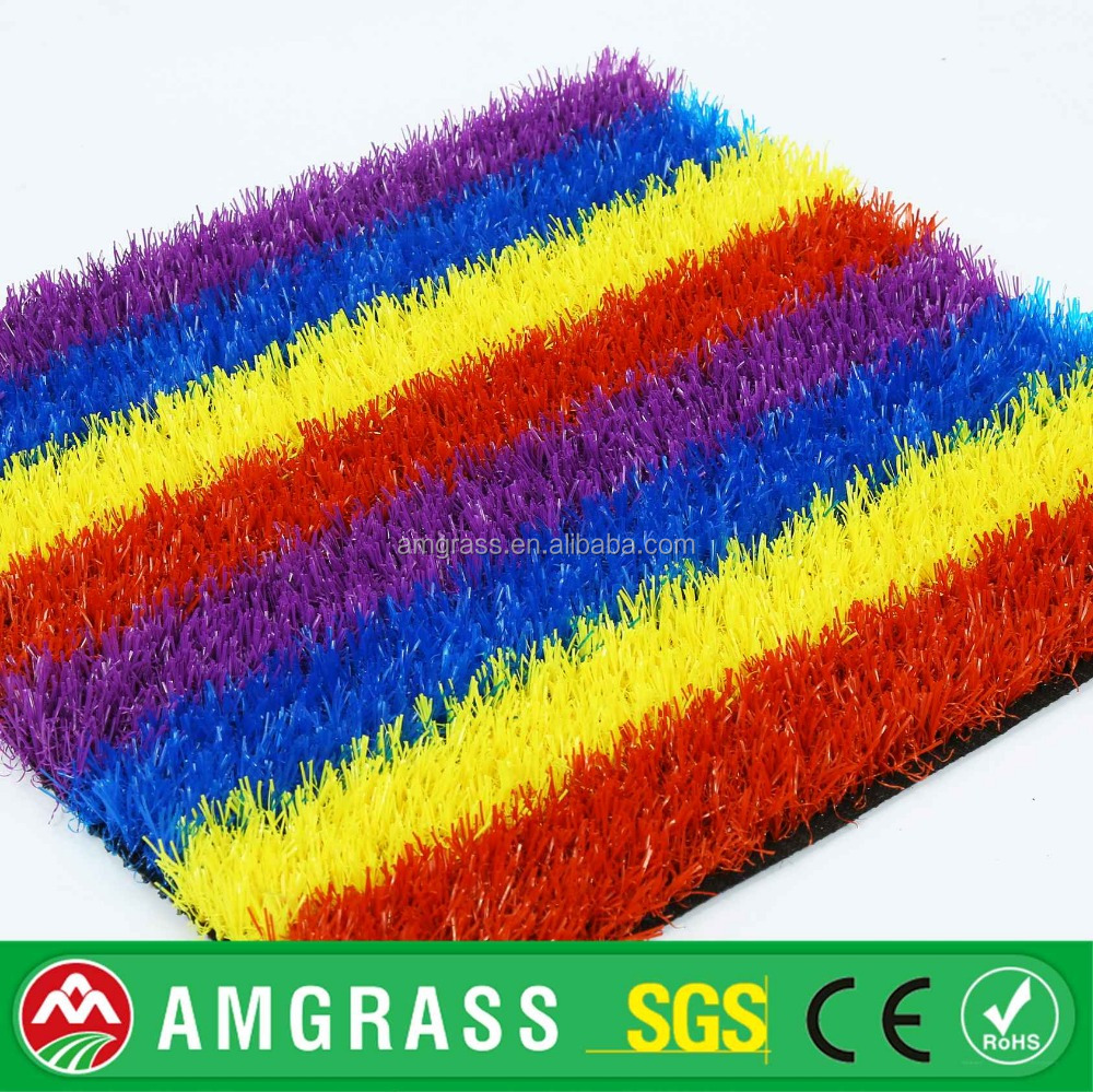 Colorful artificial grass for kid play
