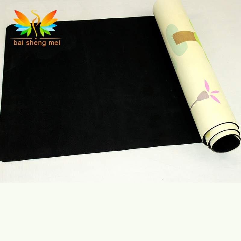 Meditation Chakra Print Suede Surface Natural Rubber Yoga Mat
