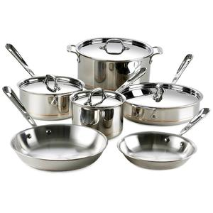 Encapsuled bottom stainless steel cookware set cooking pot casserole fry pan