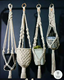 Handmade cotton Macrame Plant Hanger Indoor & Outdoor Plant Hanger Home Decoration,Plant Pot Hanger
