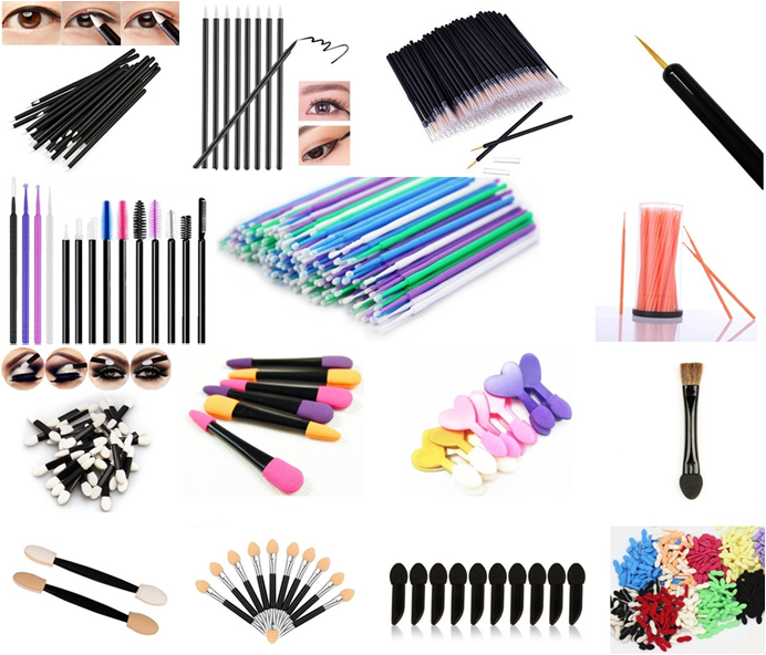 Factory best price oem Disposable Lip Brush Pony Bristle lipgloss applicator Disposable Makeup Flat Lip Brush