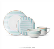 Set the table in style with this Cheeky Porter 16-piece porcelain dinnerware set