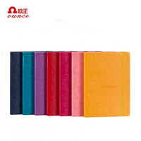 custom A5 hardcover school stationary diary travel leather notebook