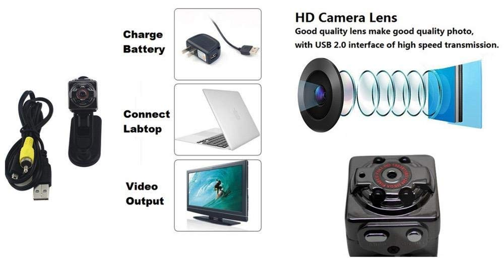 Mini hidden cameras full hd 1080p spy camera night vision car dvr