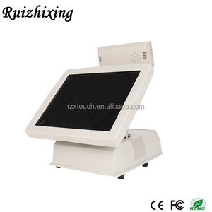 commercial touch screen POS I3 cpu VFD pos for restaurant system