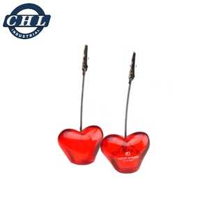 Heart shape memo clip stand for promotion