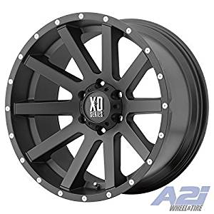 XD Series by KMC Wheels XD818 Heist Satin Black Wheel With Milled Flange (17x8/5x110mm, +35mm offset) by XD Series by KMC Wheels