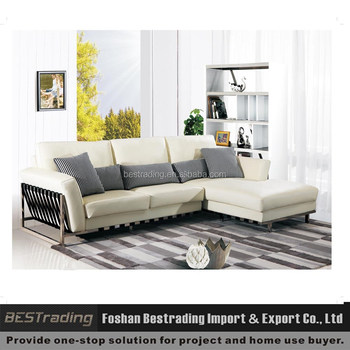 white leather steel metal legs sofasofa set designs modern l shape