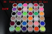 2014 new 36 Pure Color color UV Gel colored vu gel For Nail Art uv gel