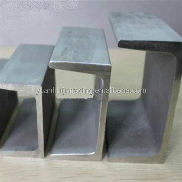 Q235/Q345 /SS400 hot rolled steel channel U / C section shaped steel channels