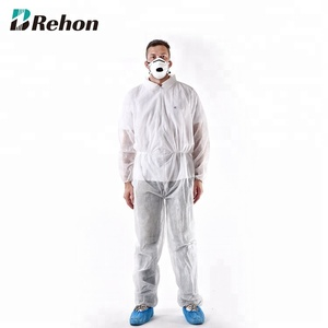 Medical Protective Clothing Disposable Waterproof Coverall With Shirt Collar