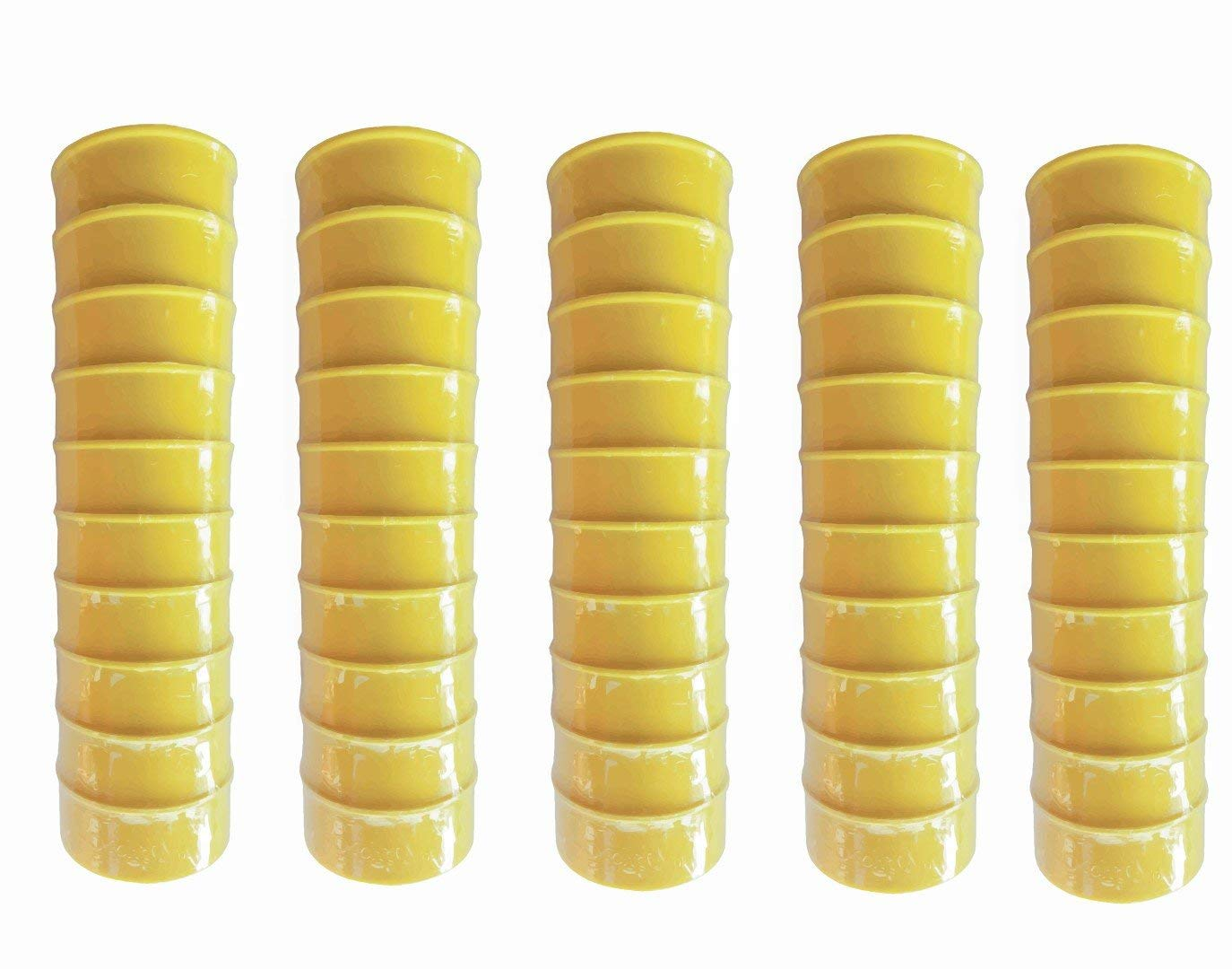 "FibroPro 50-pack Gas and Drinking Water Teflon/PTFE Tape, 1/2""x520"" Yellow"