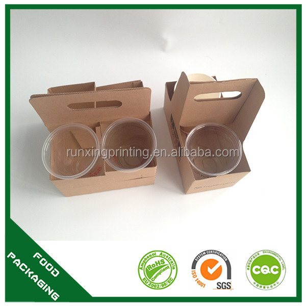 take away paper coffee cup carrier double