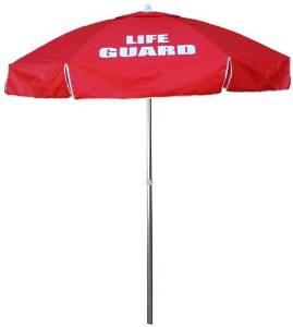 Kemp USA Lifeguard Umbrella - Red