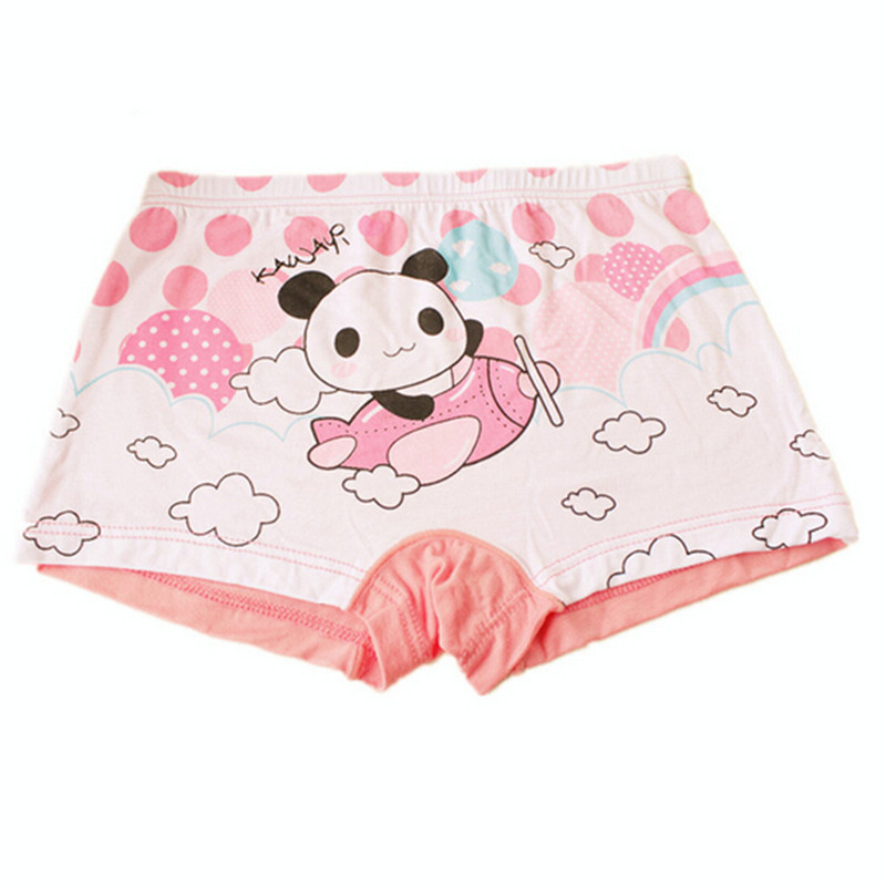 10 pcs/lot 2015 Free Shipping New Fashion Modal  Children Panties Girls Briefs Underwear Lovely Cartoon Panties