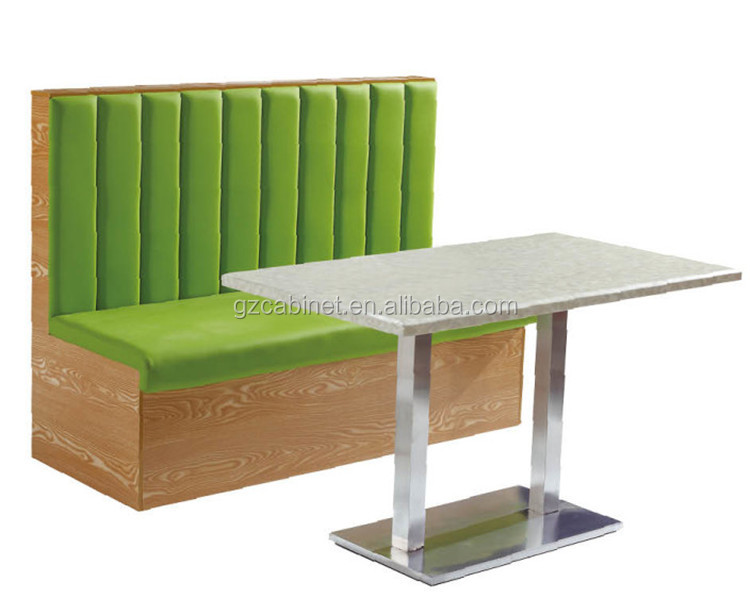 Customized leather and wooden restaurant sofa bench and table(FOH-CBCK17)