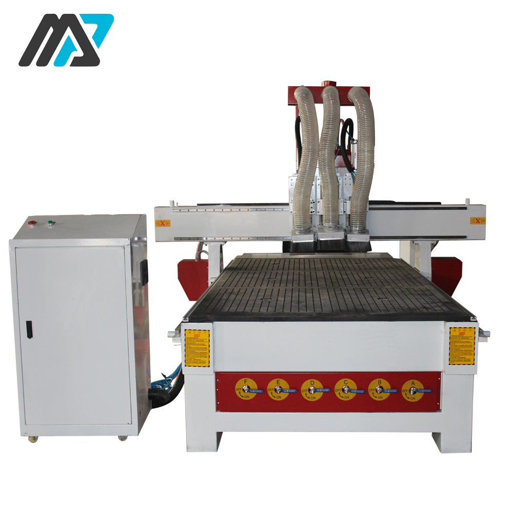 Three heads 3d relief cnc wood router china mainland wood router - Multi Function Three Head Automatic Tool Changer Wood Cnc Router