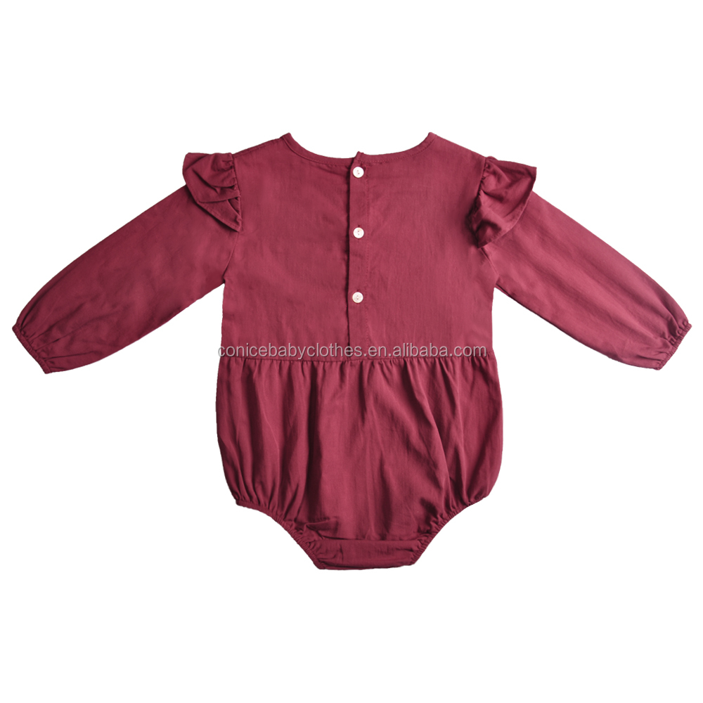 yiwu toddler girl clothes boutique linen and cotton clothing baby girls party wear romper