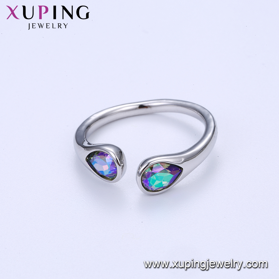 15363 xuping jewels, Environmental Copper sterling silver color 925 ring crystals from Swarovski, gold jewelry