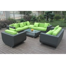 7 seater outdoor rattan modern furniture lastest design living room sofa set export to philippines