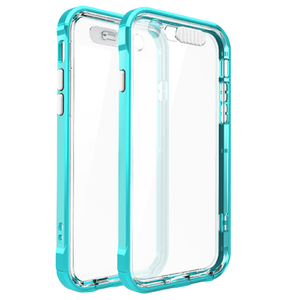 2 in 1 tpu pc back cover multi-color transparent case for iphone5/6 flash up light remind incoming call case for iphone 6s