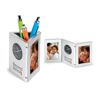 Unionpromo Foldable Pen Holder With Alarm Clock And Digital Calendar