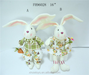 wholesale plush stuffed sitting bunny for Easter decoration