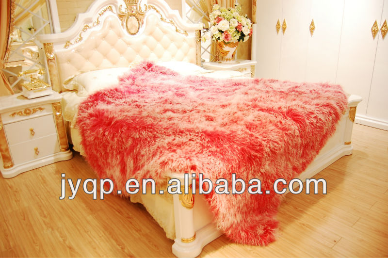 Wholesale Soft Tibetan Mongolian Lamb Fur Rug