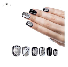 fengshangmei nail art eco-friendly acrylic nail tips design color finger nail tips