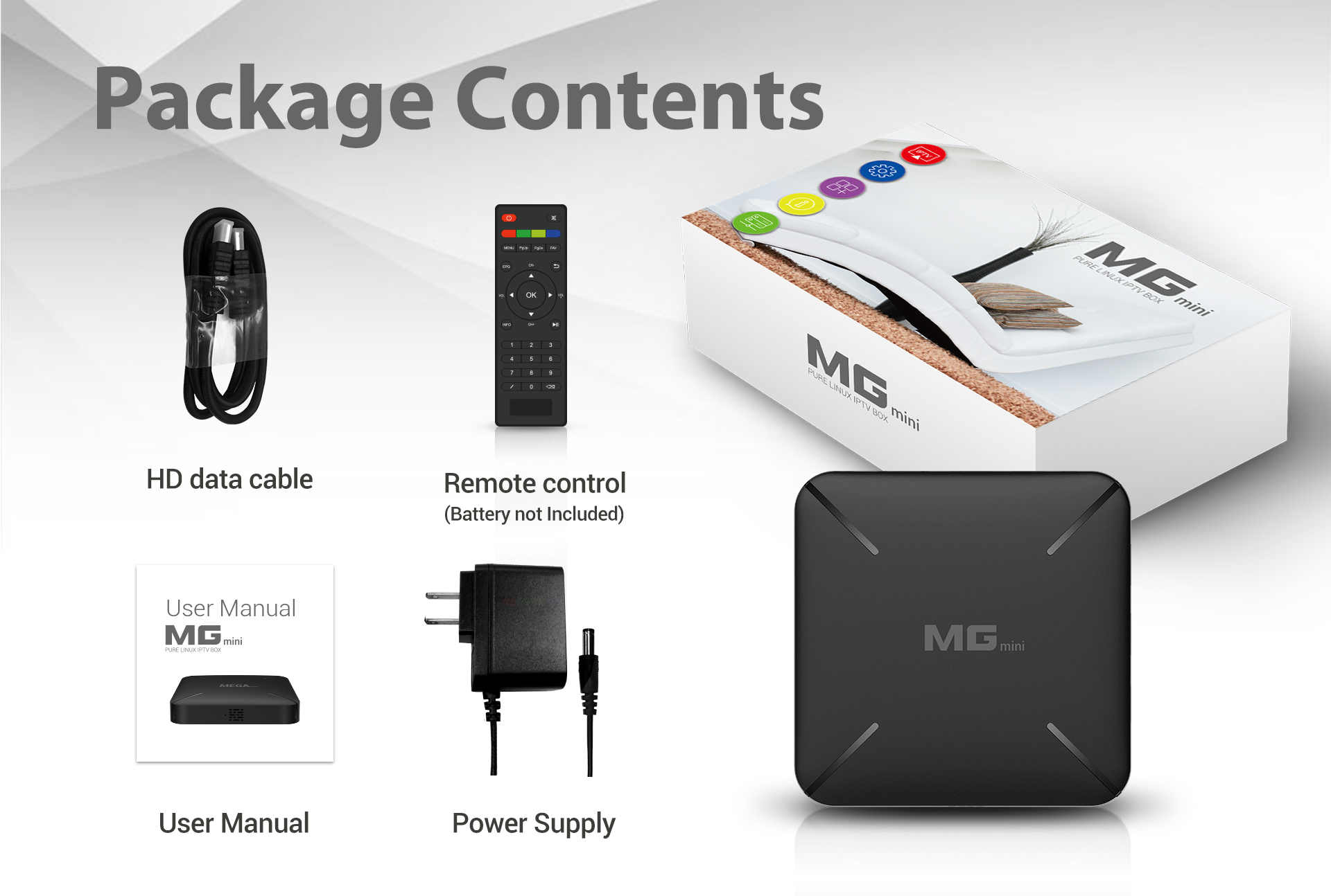 Newest smart tv box Linux system Support Stalker Xtream IPTV Ethernet Built-in WiFi MGmini IPTV Box