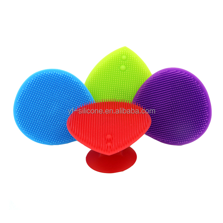 FDA Silicone face washing brush cleaning brush with ring