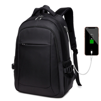 New Trendy Men Women Waterproof USB Charging Anti Theft Sports Business Backpack Bag