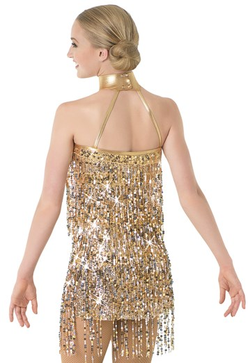 Fashion Shoulderless Shining Sequin Girl Latin Dance Dress Costumes For Women