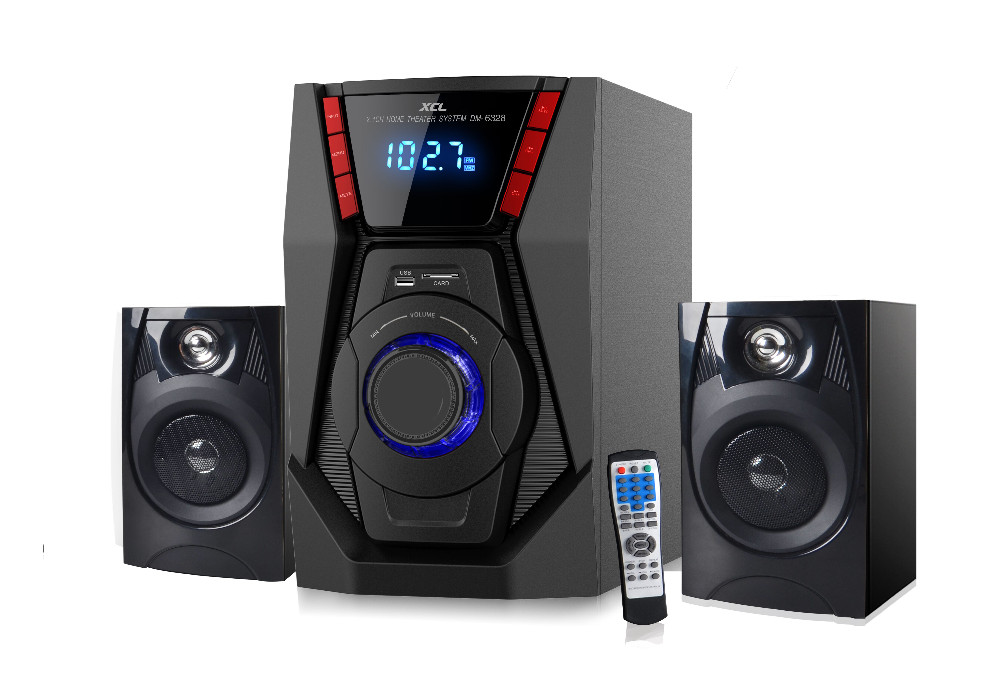 Nice family portable BT powered 2.1 computer speaker with fm radio