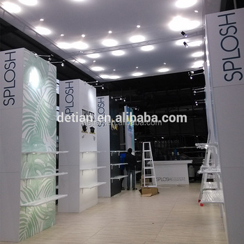 Exhibition Stand Lighting : Detian offer durable large booth design exhibition stand with