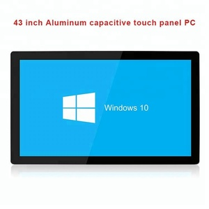 43 inch led digital signage display for automotive desktop computer wall mounted all in one panel pc
