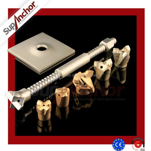 SupAnchor High Strength Hollow Grouted R32S Steel Self Drilling Anchor Bolt