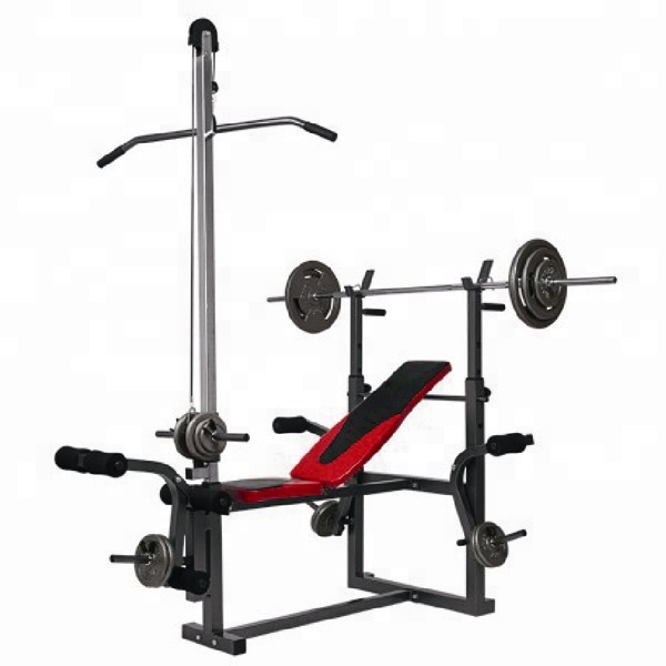 Weight lifting bench with elbow rest seat combination fitness home