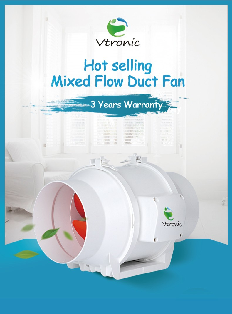 Vtronic Ventilatie Systeem 150mm Inline Fan W150s-01 Gemengde Flow ...