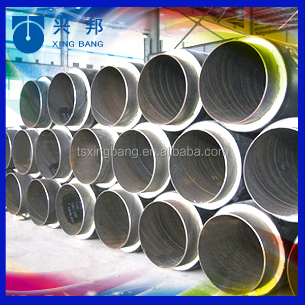 Plumbing materials insulated tube with rigid foam filled and hdpe outer casing for Mongolia power waste heat supply