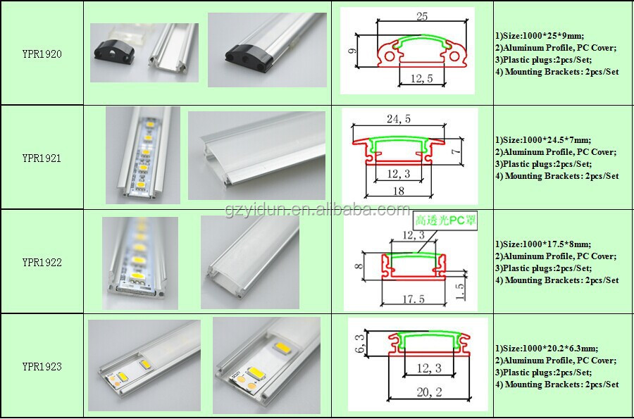 Built In Linear Aluminum Led Module New Profile System
